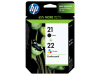 HP No.21 Inkjet print Catr,tri-colour